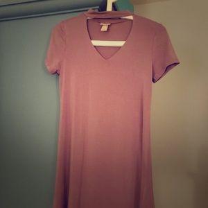 Mossimo Purple Choker T-Shirt Dress